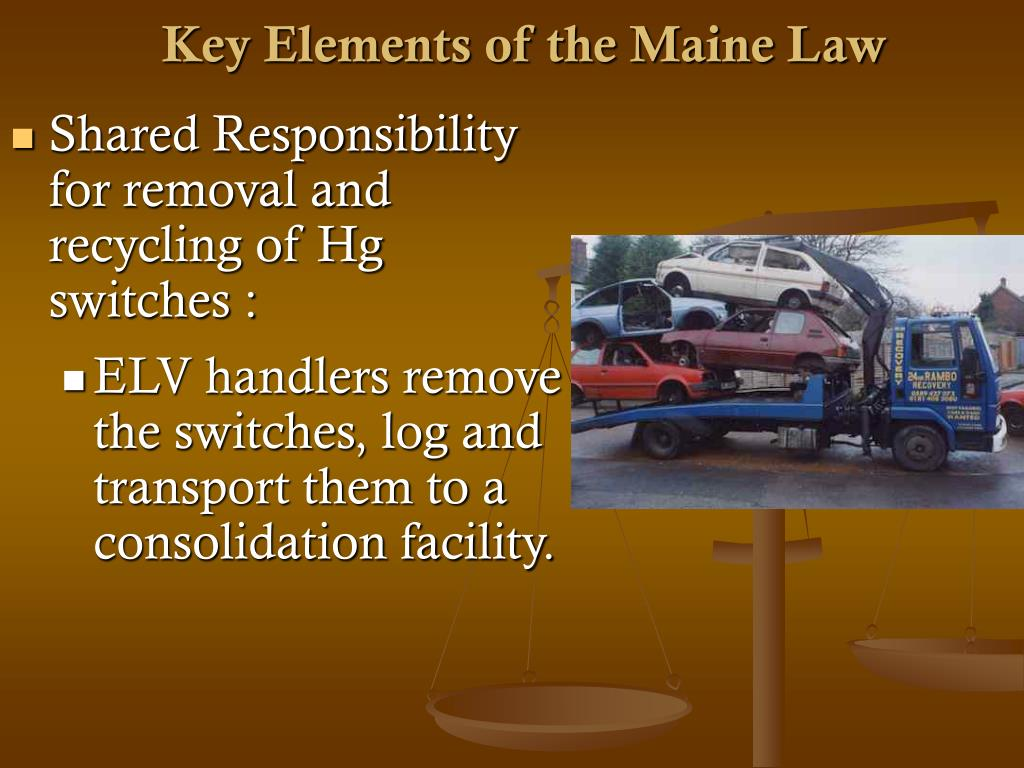 Key Elements of the Maine Law