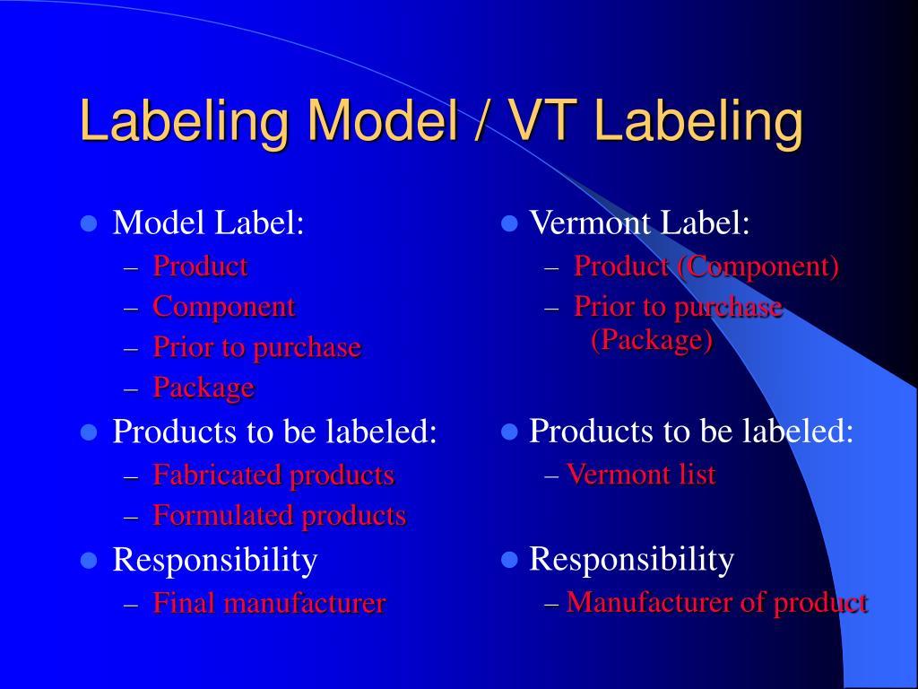 Labeling Model / VT Labeling