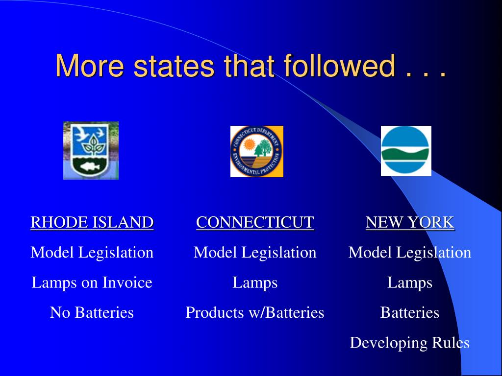 More states that followed . . .