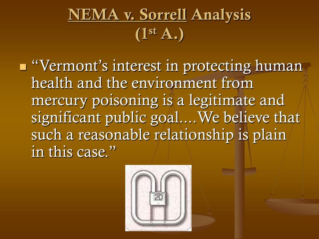 NEMA v. Sorrell