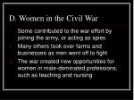 d women in the civil war