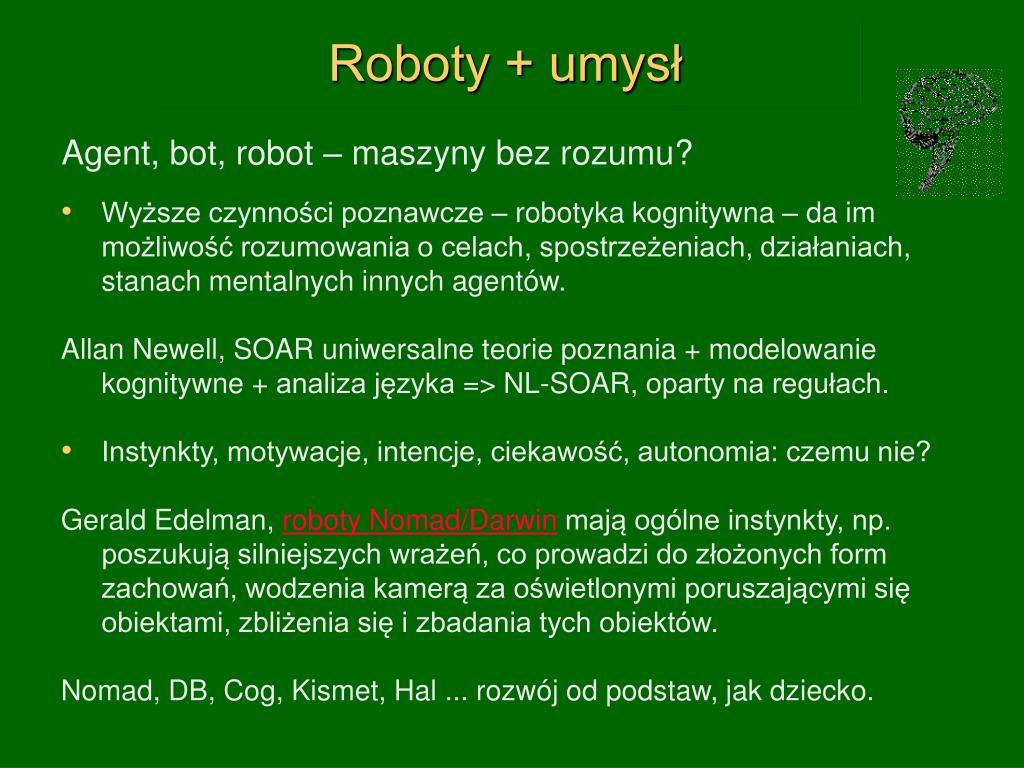 Roboty + umysł
