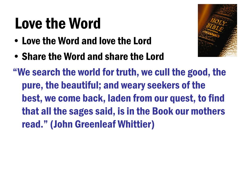 Love the Word