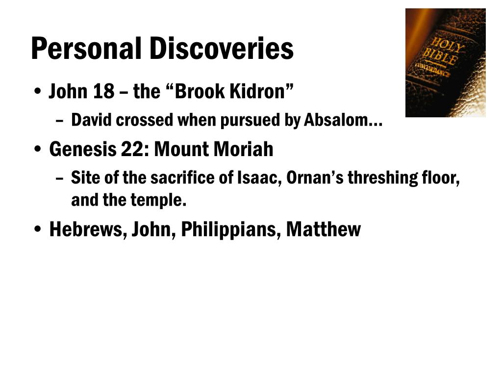 Personal Discoveries