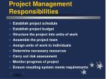 project management responsibilities