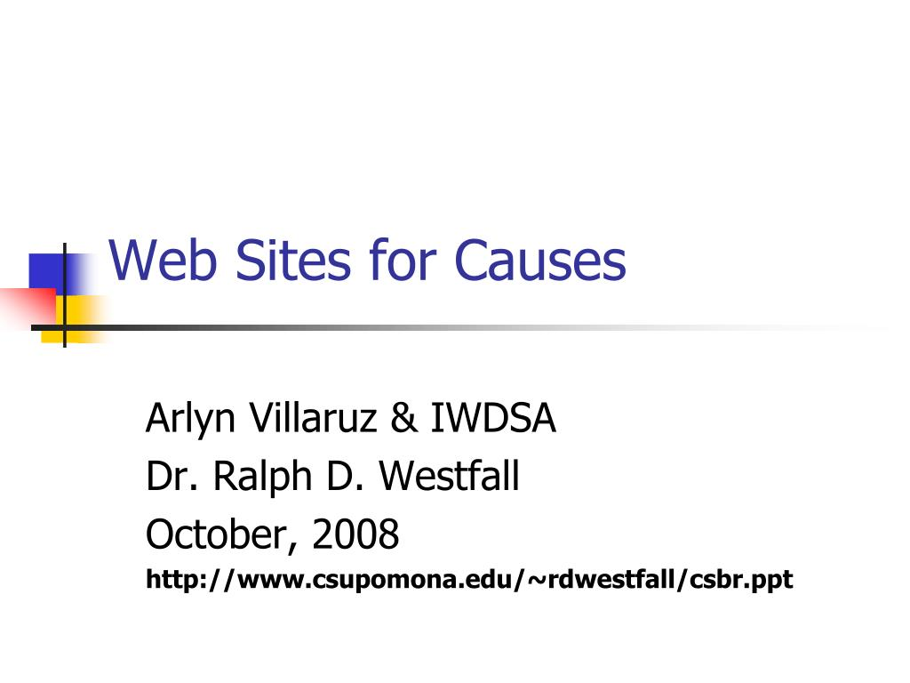 web sites for causes