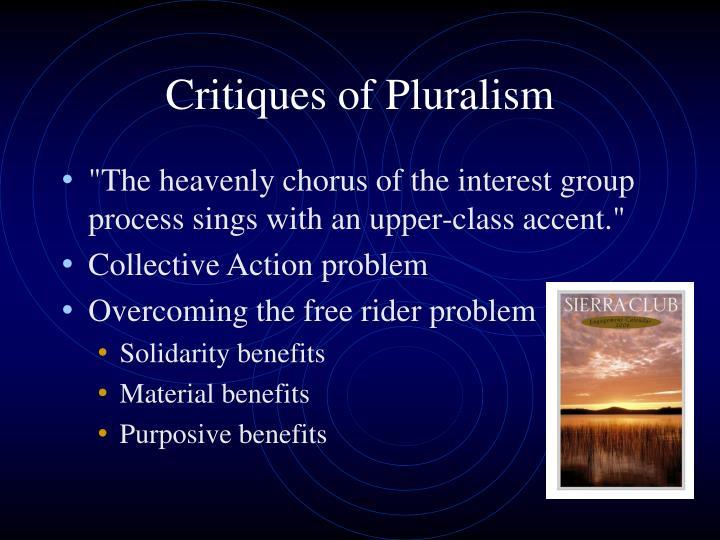 Critiques of Pluralism