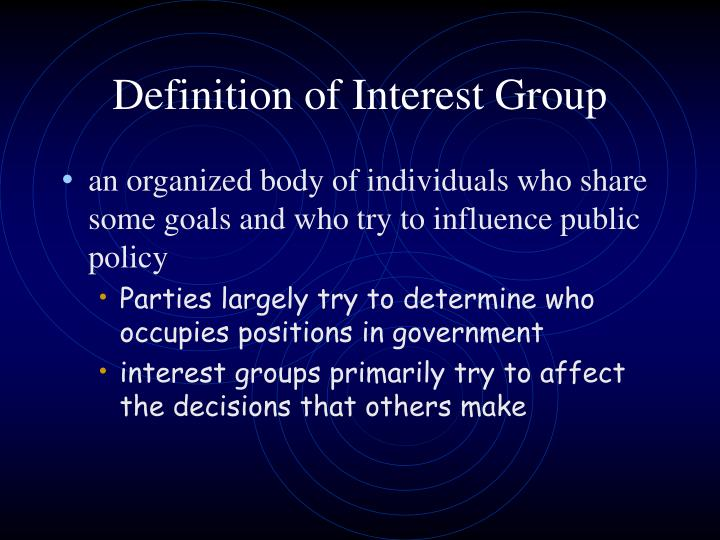 Definition of interest group