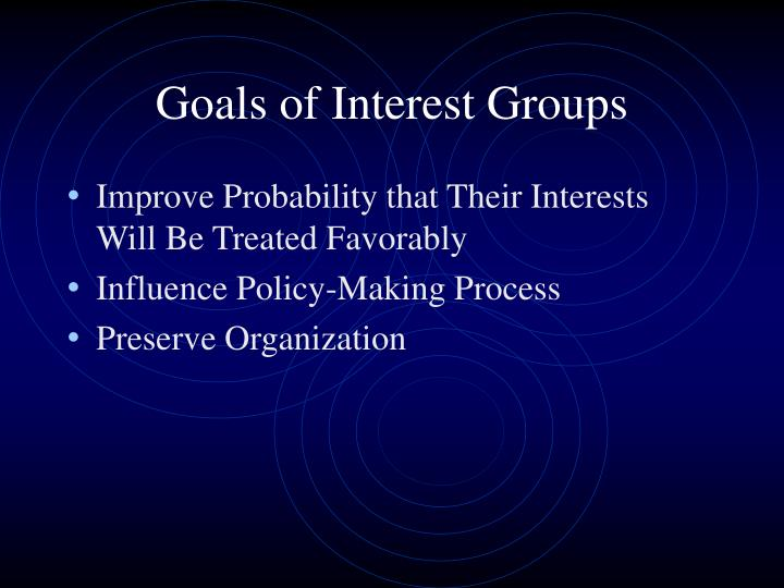 Goals of Interest Groups