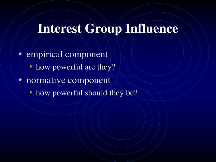 Interest Group Influence