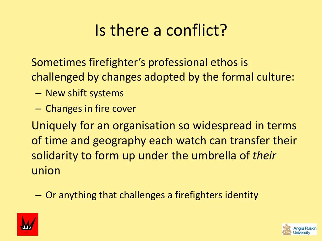 Is there a conflict?