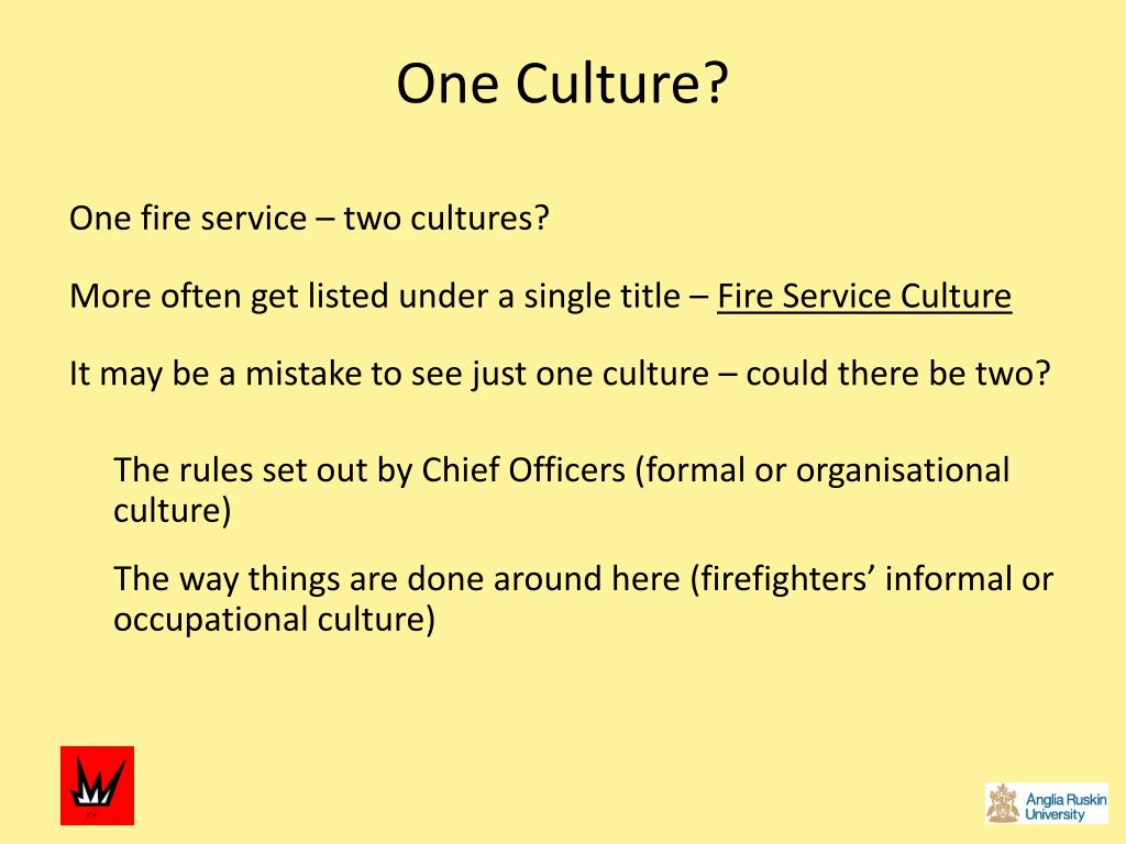One Culture?