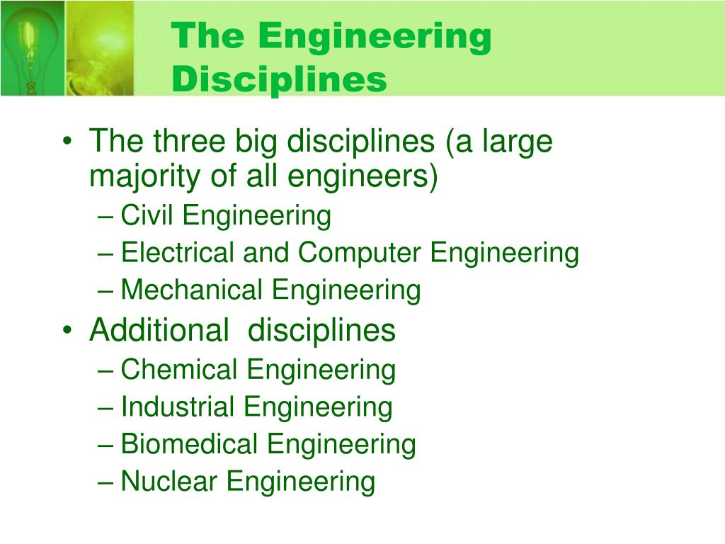 The Engineering Disciplines
