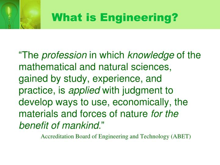 What is engineering l.jpg