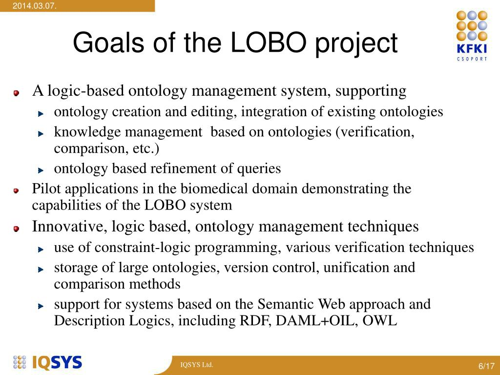 Goals of the LOBO project