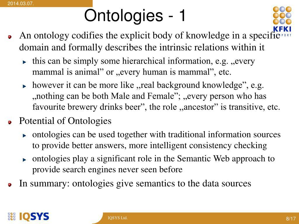 Ontologies - 1