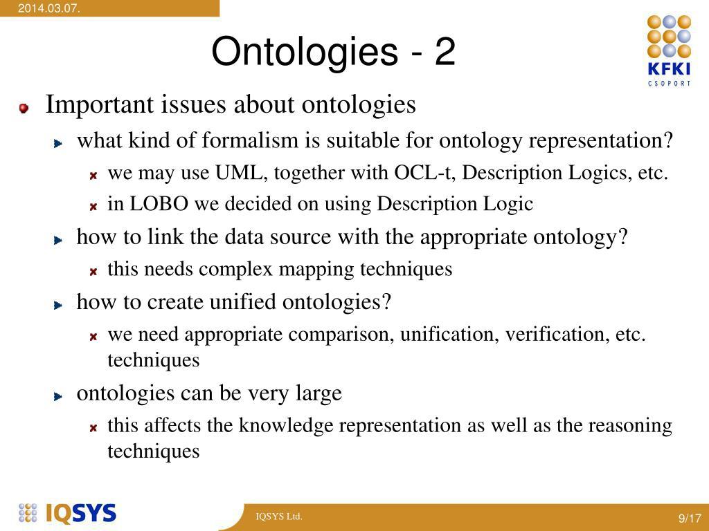Ontologies - 2