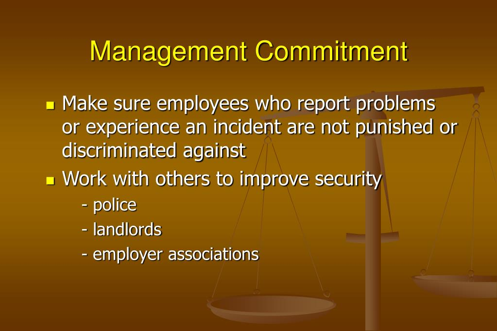 Management Commitment