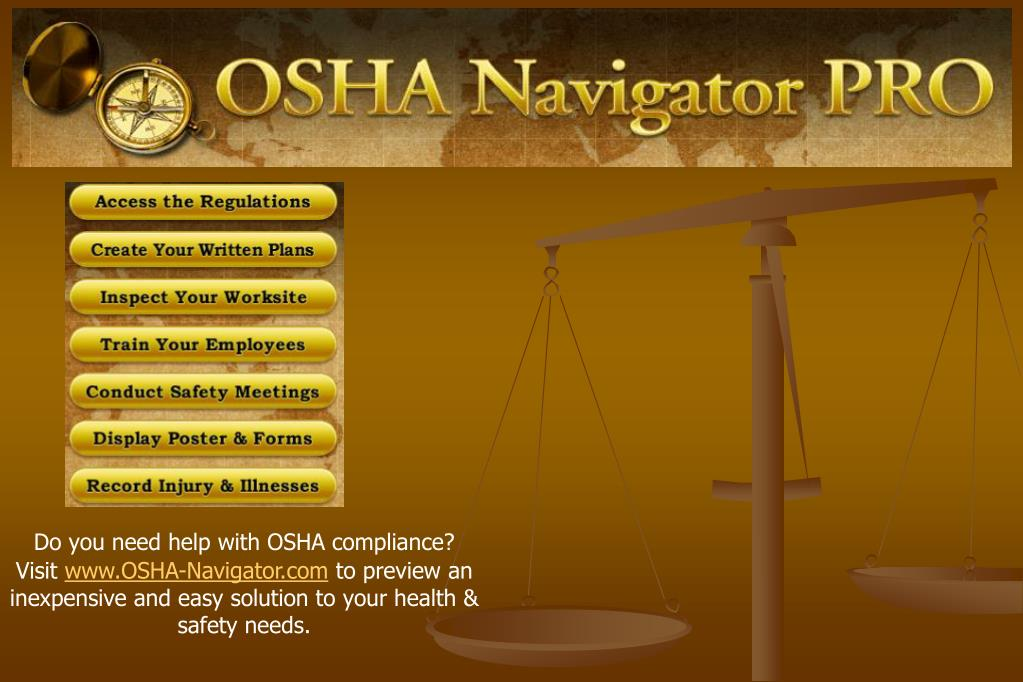 Do you need help with OSHA compliance?