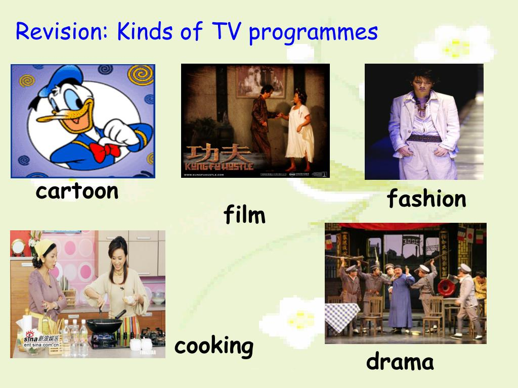 Revision: Kinds of TV programmes