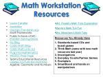 math workstation resources