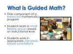 what is guided math