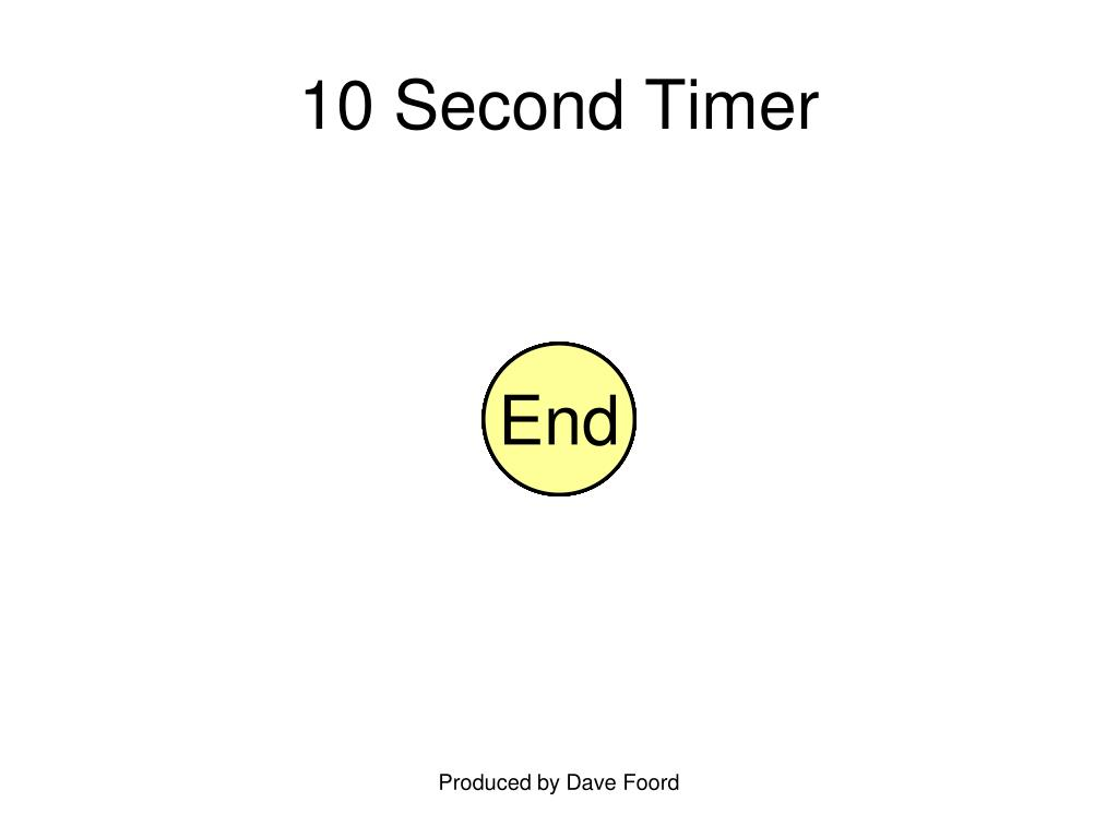 10 Second Timer