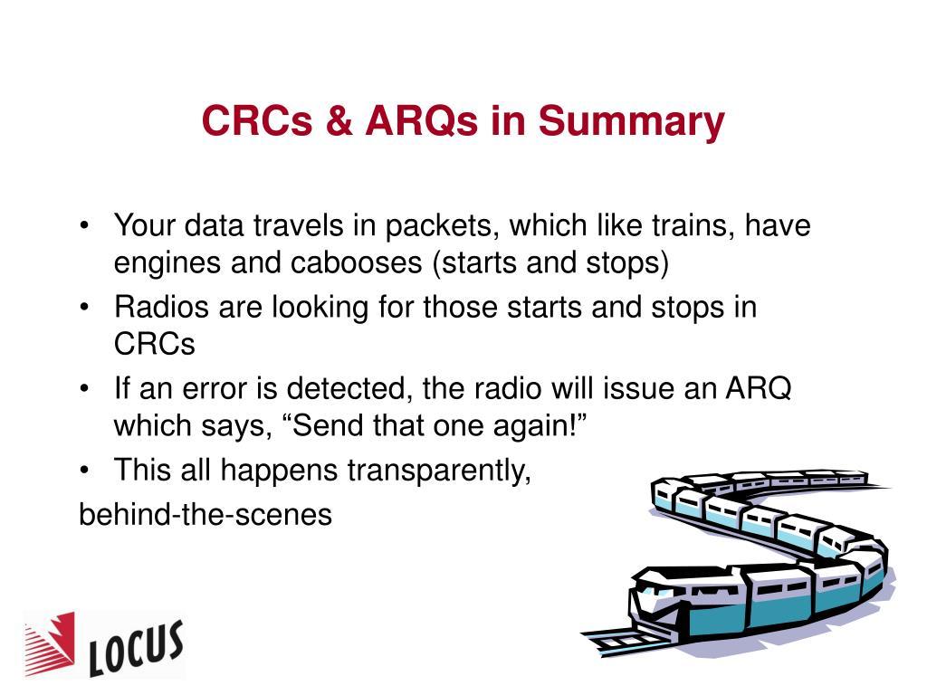 CRCs & ARQs in Summary