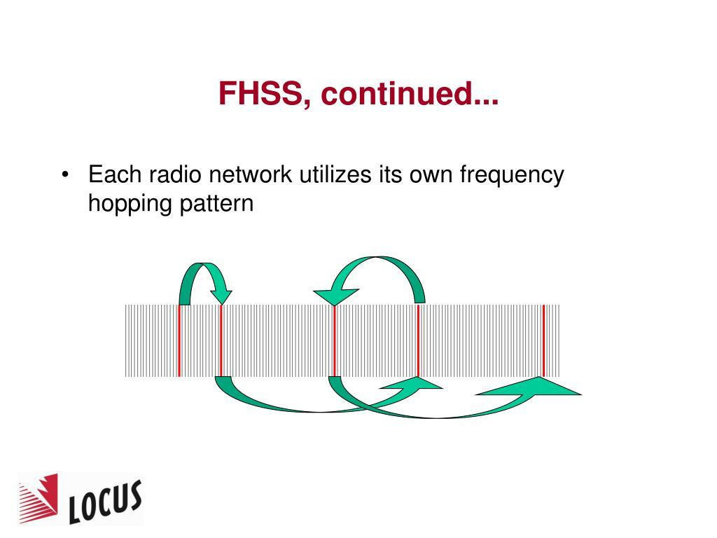 FHSS, continued...