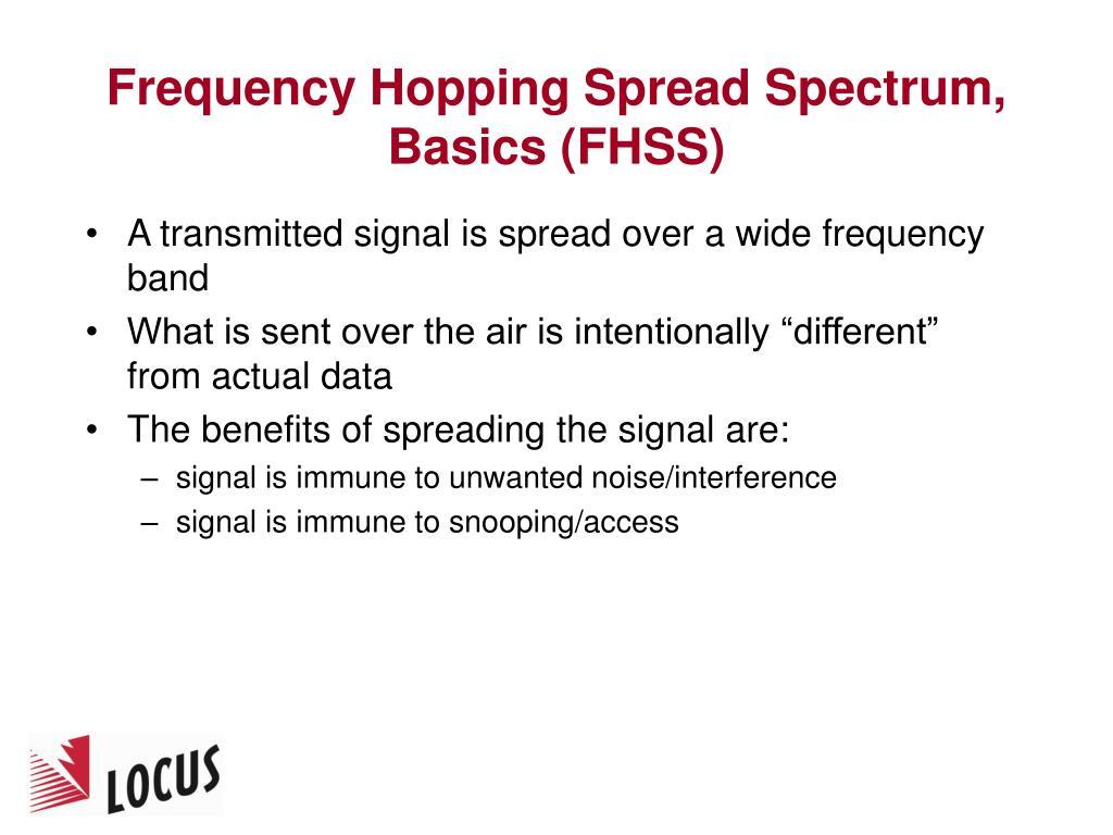Frequency Hopping Spread Spectrum, Basics (FHSS)