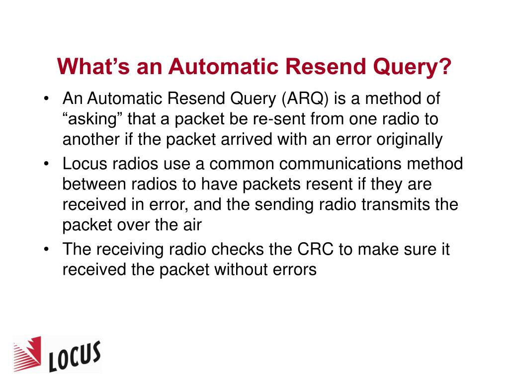 What's an Automatic Resend Query?