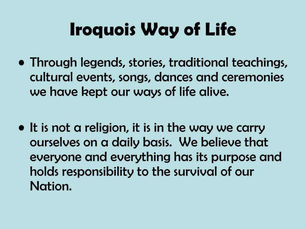 Iroquois Way of Life
