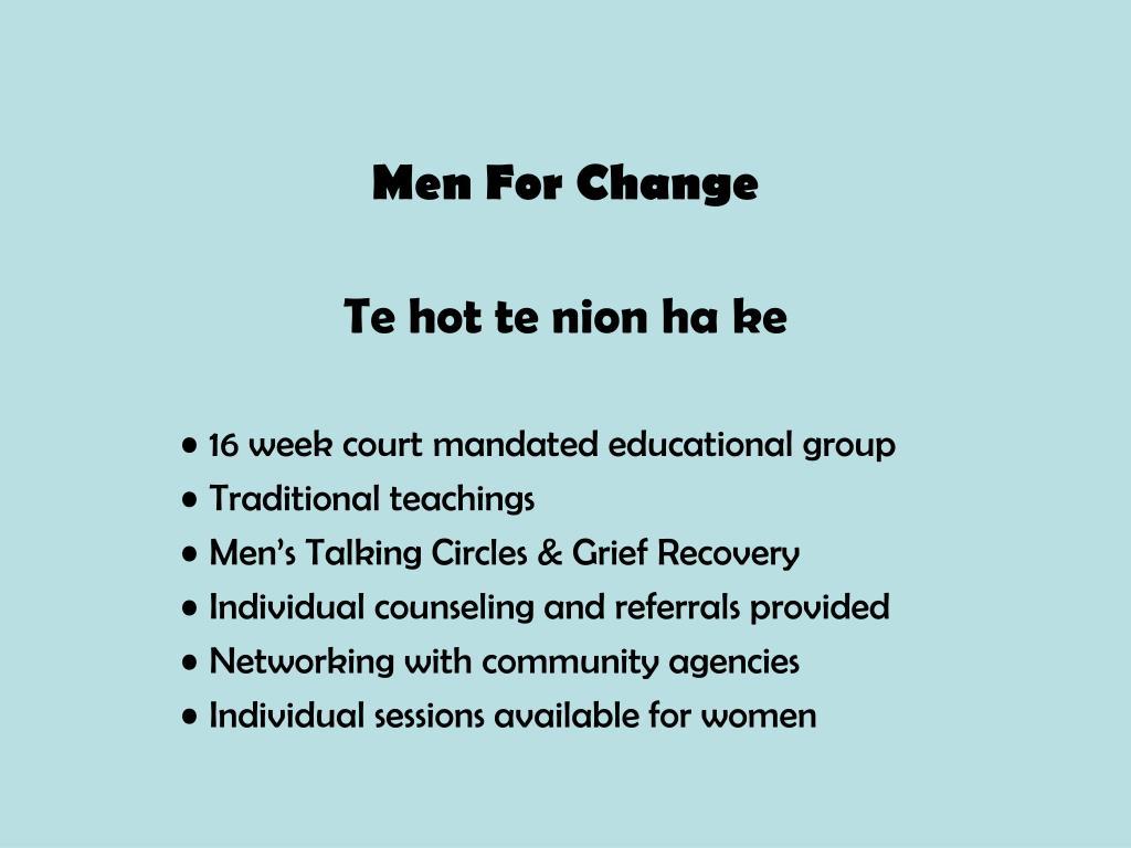 Men For Change