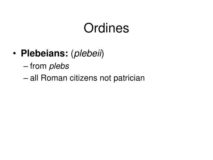 Ordines