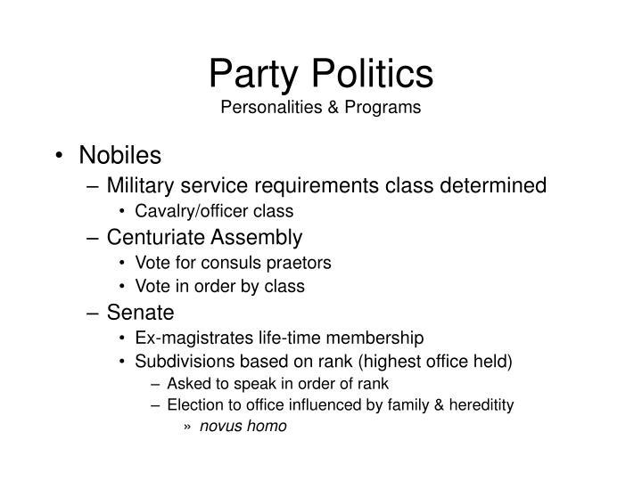 Party Politics