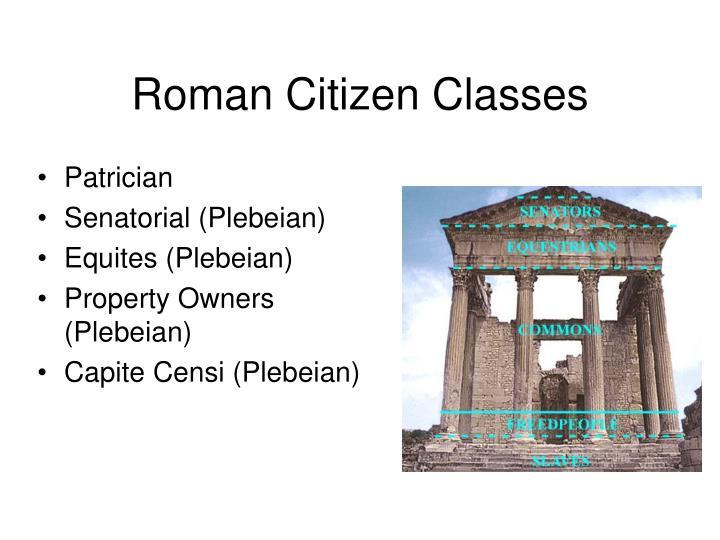 Roman Citizen Classes