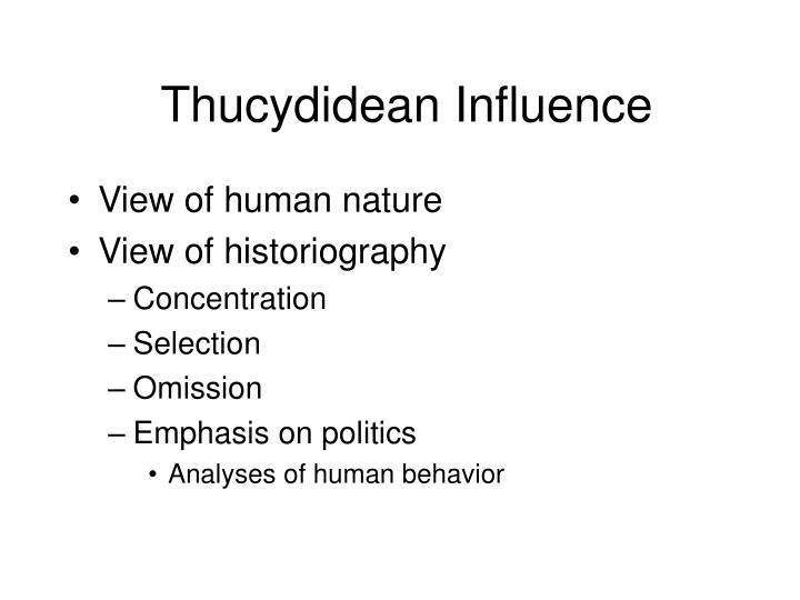 Thucydidean Influence