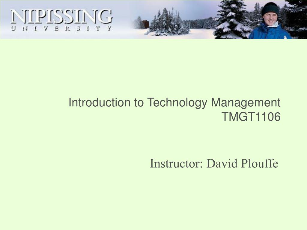 introduction to technology management tmgt1106
