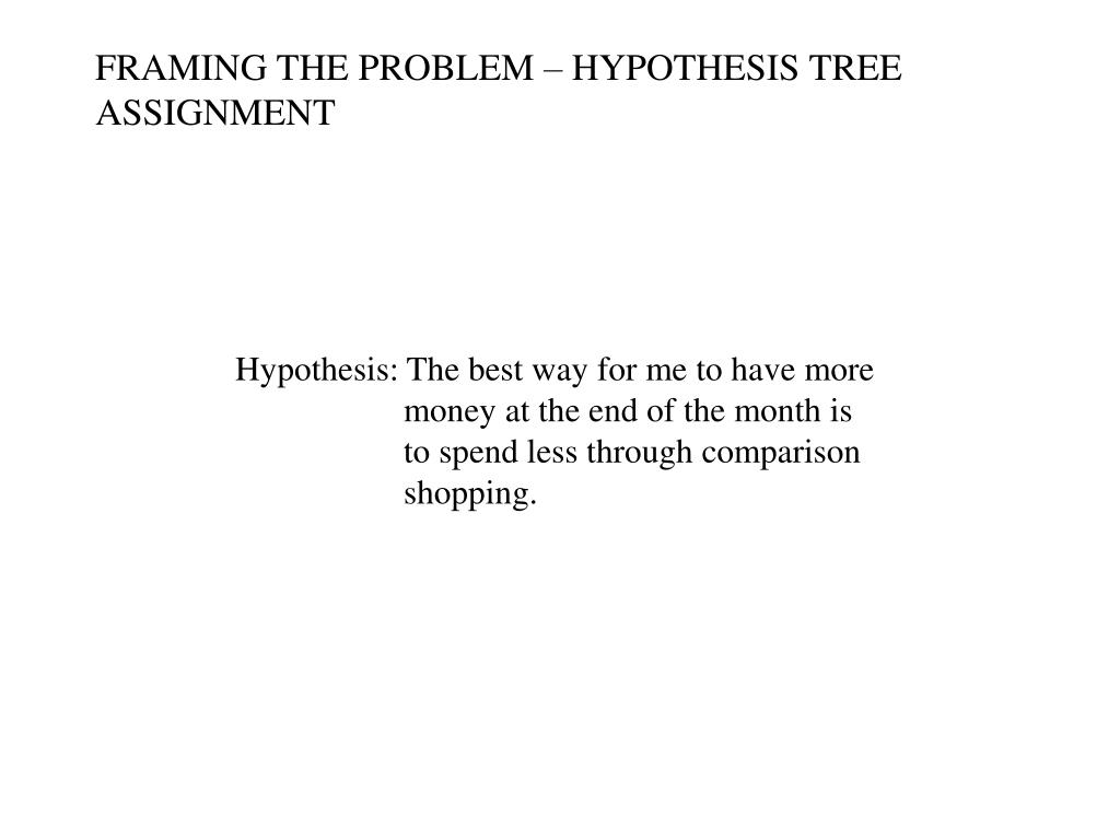 FRAMING THE PROBLEM – HYPOTHESIS TREE ASSIGNMENT