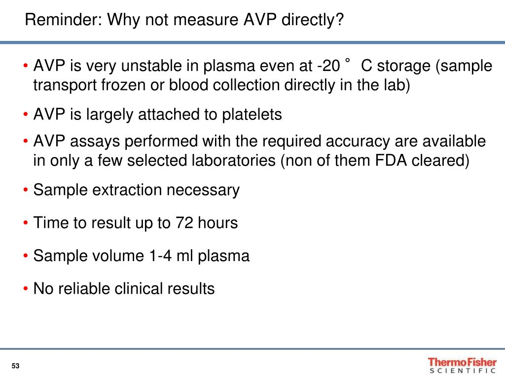 Reminder: Why not measure AVP directly?