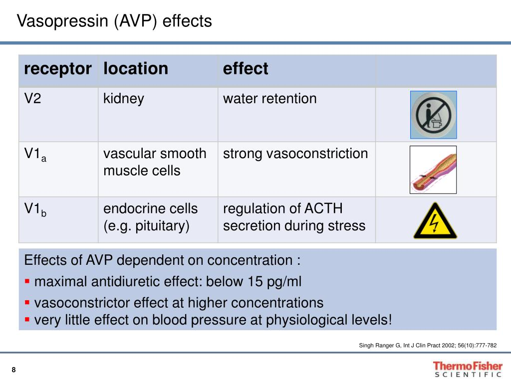 Vasopressin (AVP) effects