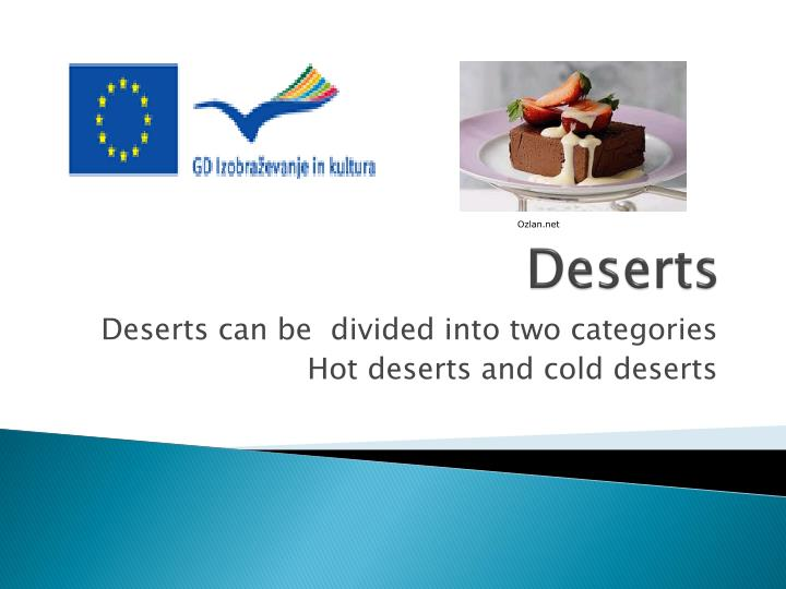 Desert Facts  Cool Kid Facts