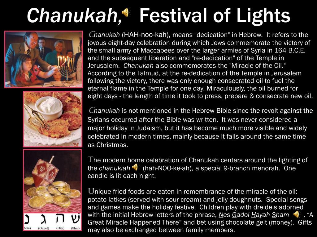 Chanukah,