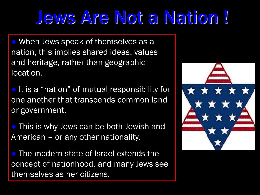 Jews Are Not a Nation !