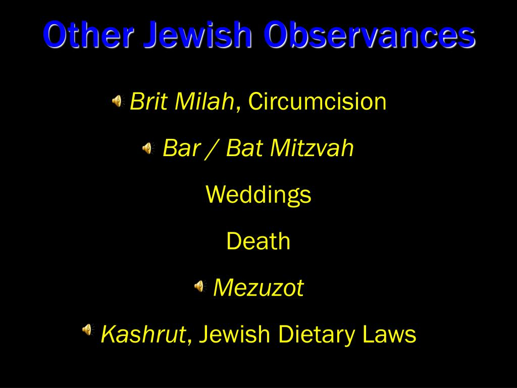 Other Jewish Observances