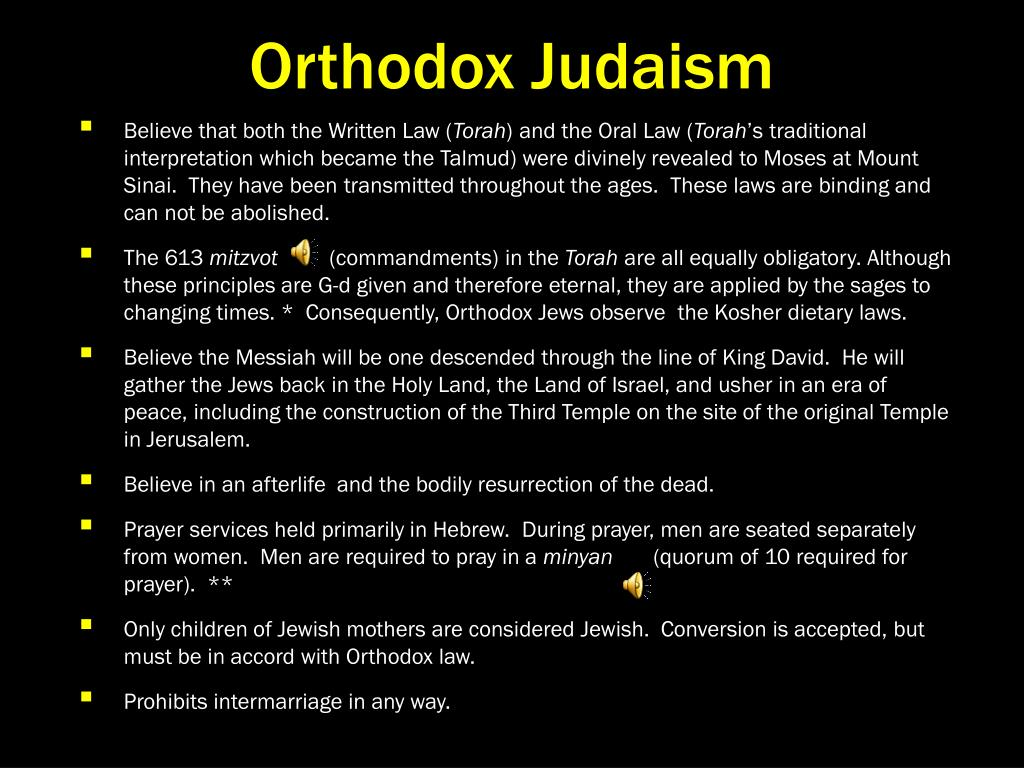 Orthodox Judaism