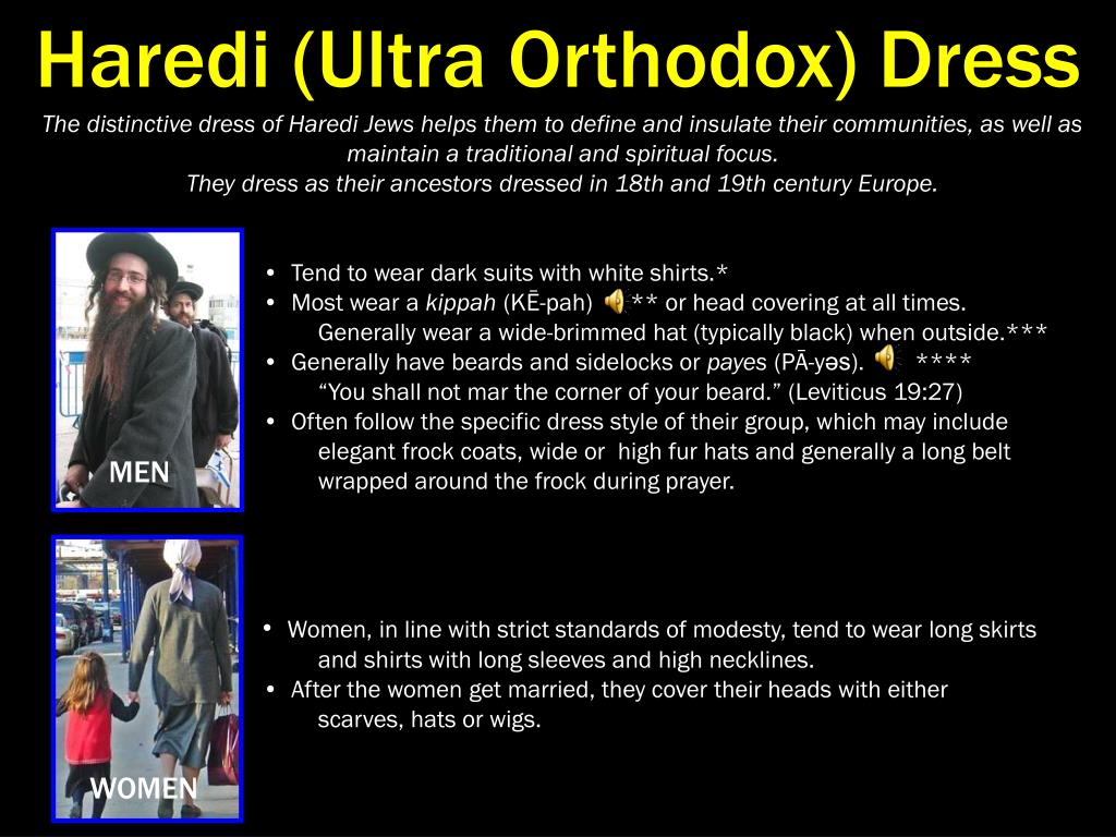 Haredi (Ultra Orthodox) Dress
