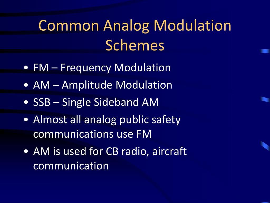 Common Analog Modulation Schemes