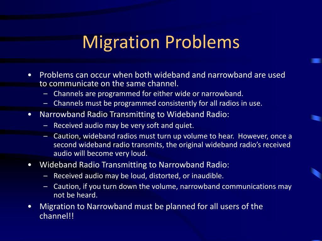 Migration Problems