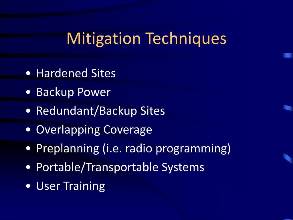 Mitigation Techniques